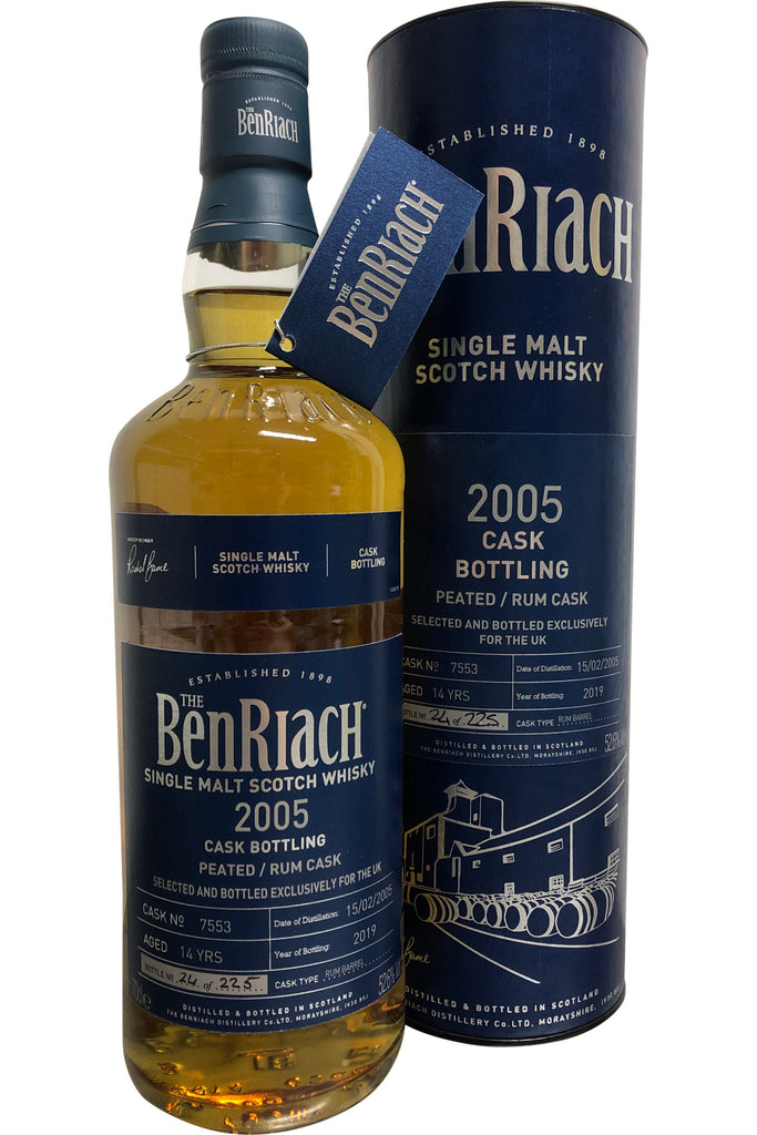 BenRiach 2005 Peated Rum Cask #7553 52.6% 700ml