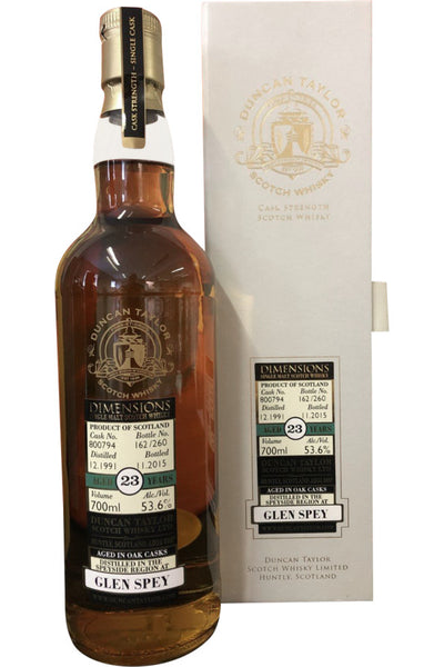 Glen Spey 1991 23 Year Old Dimensions Cask #800794 Whisky - 53.6% 700ml
