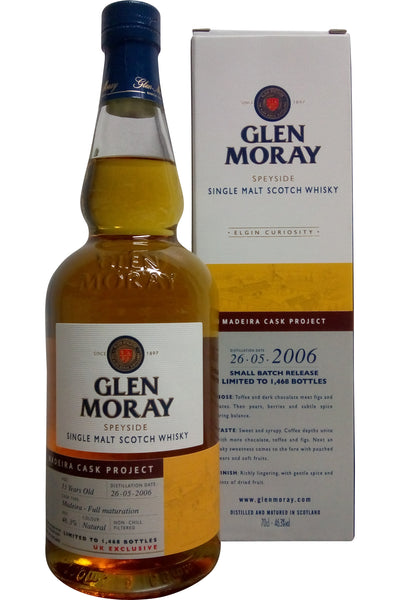 Glen Moray 2006 Madeira Cask Project | 46.3% 700ml