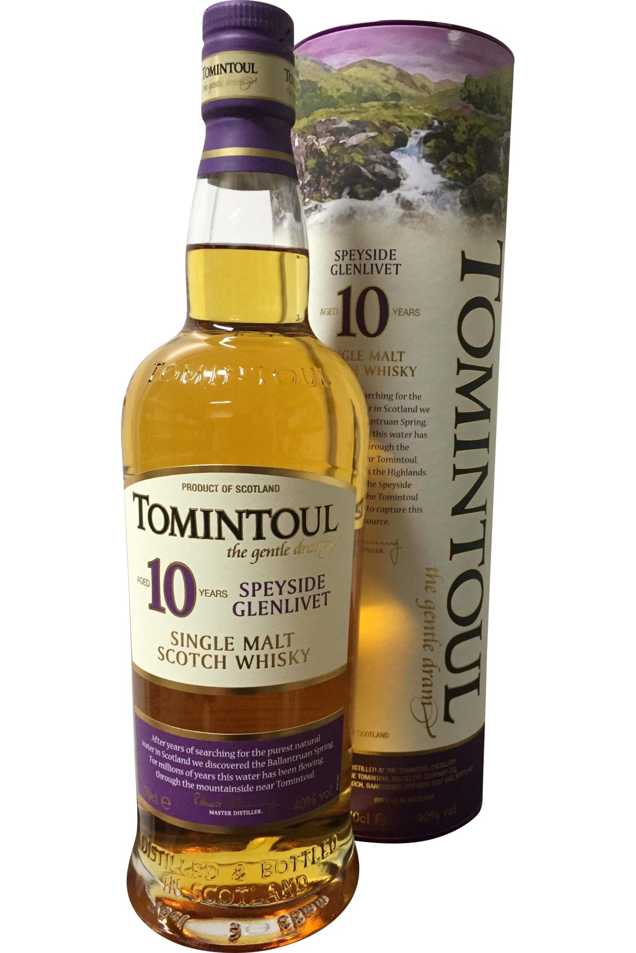 Tomintoul 10 Year Old Whisky - 40% 700ml