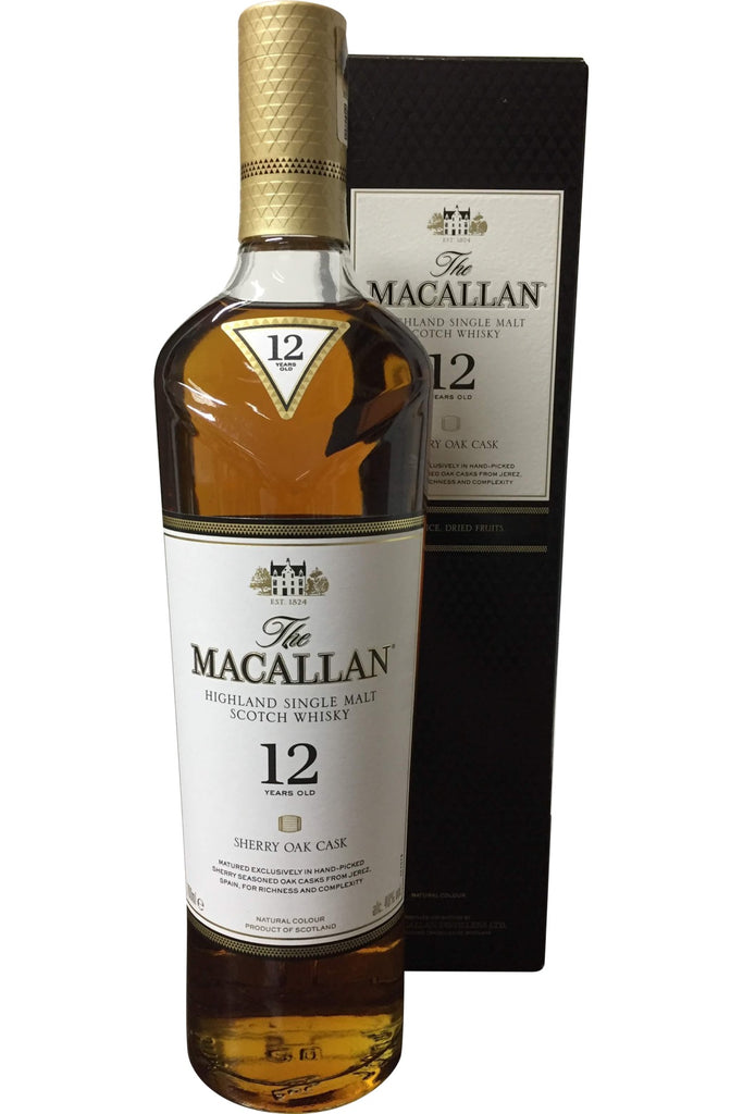 Macallan 12 Year Old Sherry Oak Cask Whisky - 40% 700ml