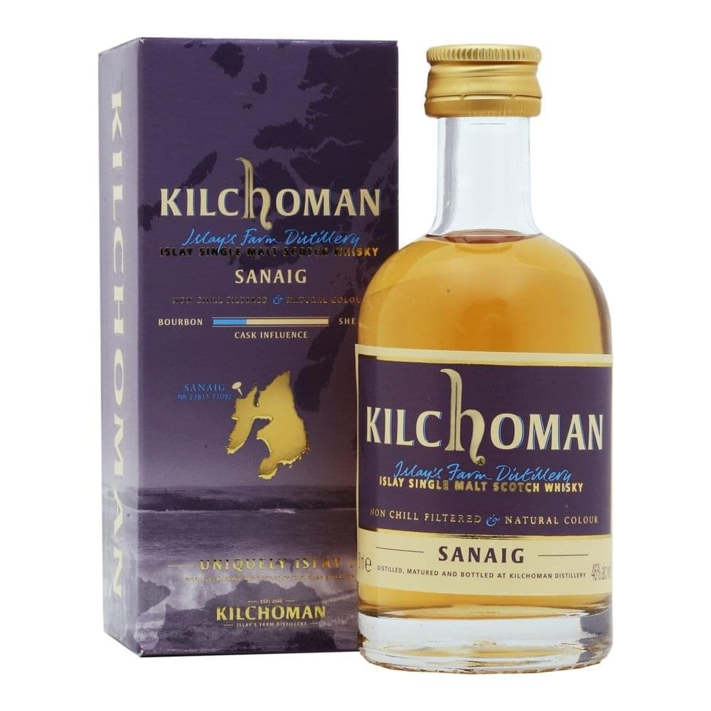 Kilchoman Sanaig Miniature Whisky - 46% 50ml  Whisky