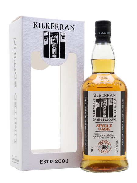 Kilkerran 15 Year Old Single Cask Bourbon Wood - 53.1% 700ml