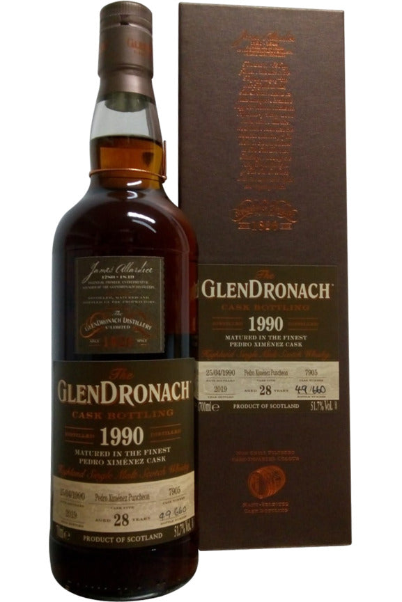 Glendronach 1990 28 Year Old Cask No.7905 Batch 17 | 51.7% 700ml  Whisky