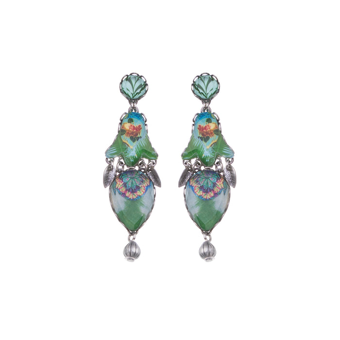 SWEET LEAF, LILA EARRINGS