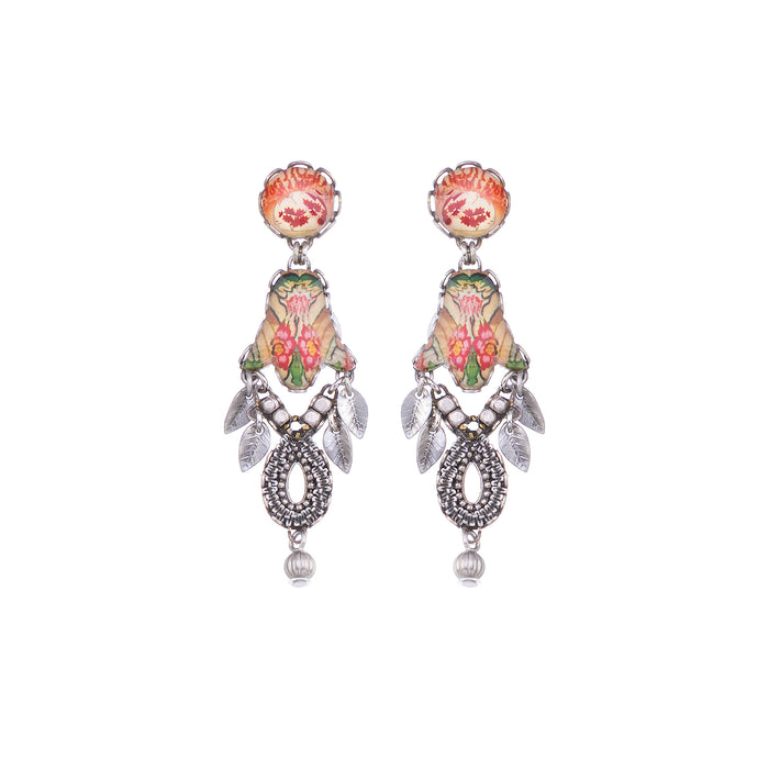 CORAL CAVE, ANITA EARRINGS