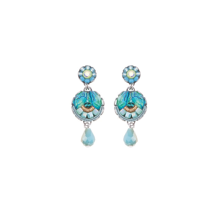 CLEAR WATER, REES EARRINGS