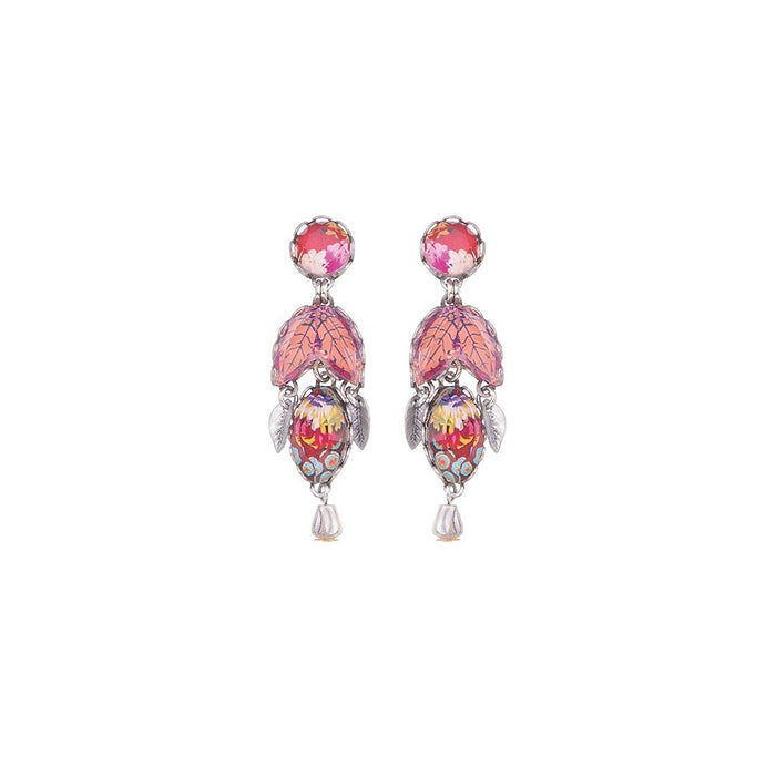 CRIMSON DREAMS, RIVA EARRINGS