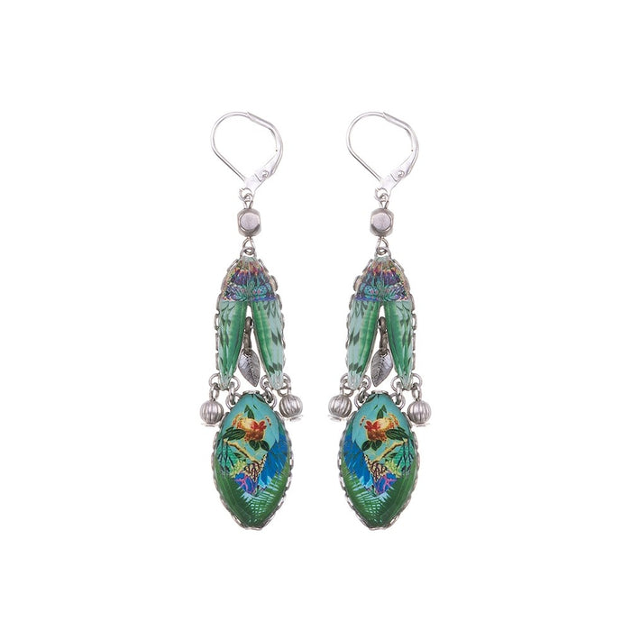 SWEET LEAF, BLUEBIRD EARRINGS