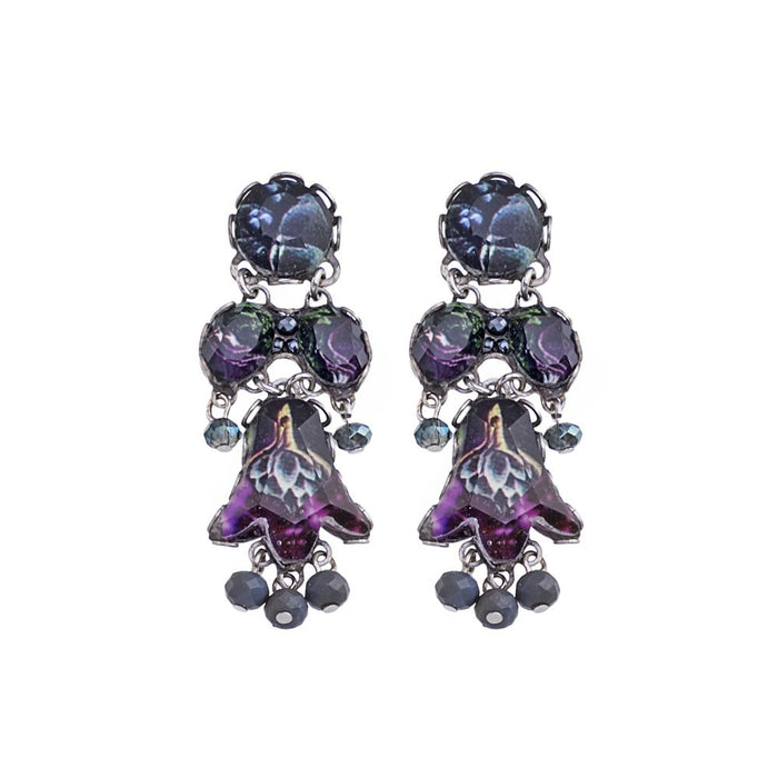 RAIN FOREST, MOYARE EARRINGS