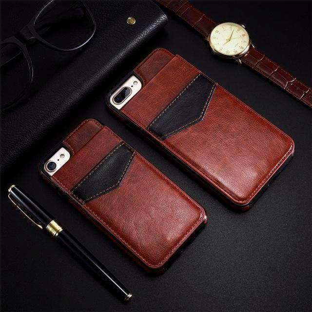 Retro Leather Card Holder Case