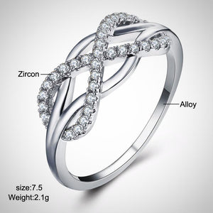 Infinity Ribbon Ring