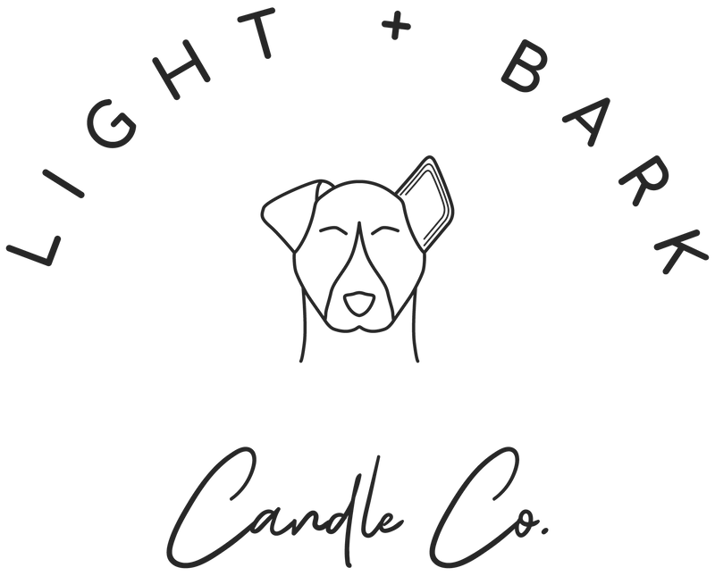 At Light + Bark Candle Co we make premium soy candles by hand & donate a portion of profits to shelter + rescue dogs. Do good, smell good, feel good.