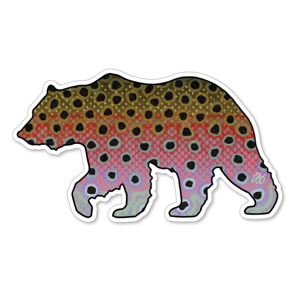 Bear Rainbow Decal
