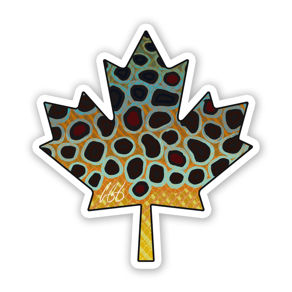 Canada Brown Trout Decal