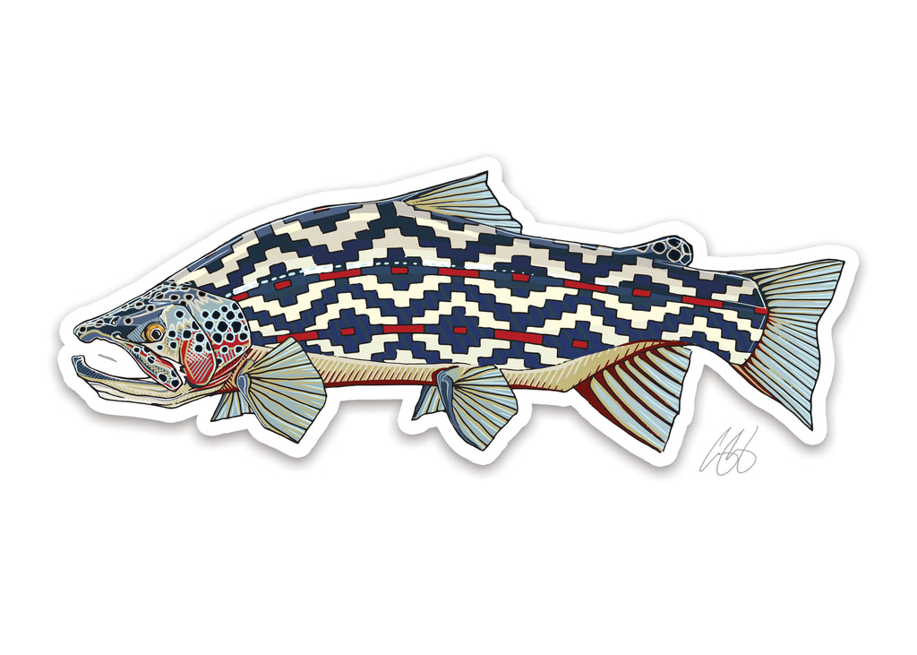 Gaucho Trout Decal