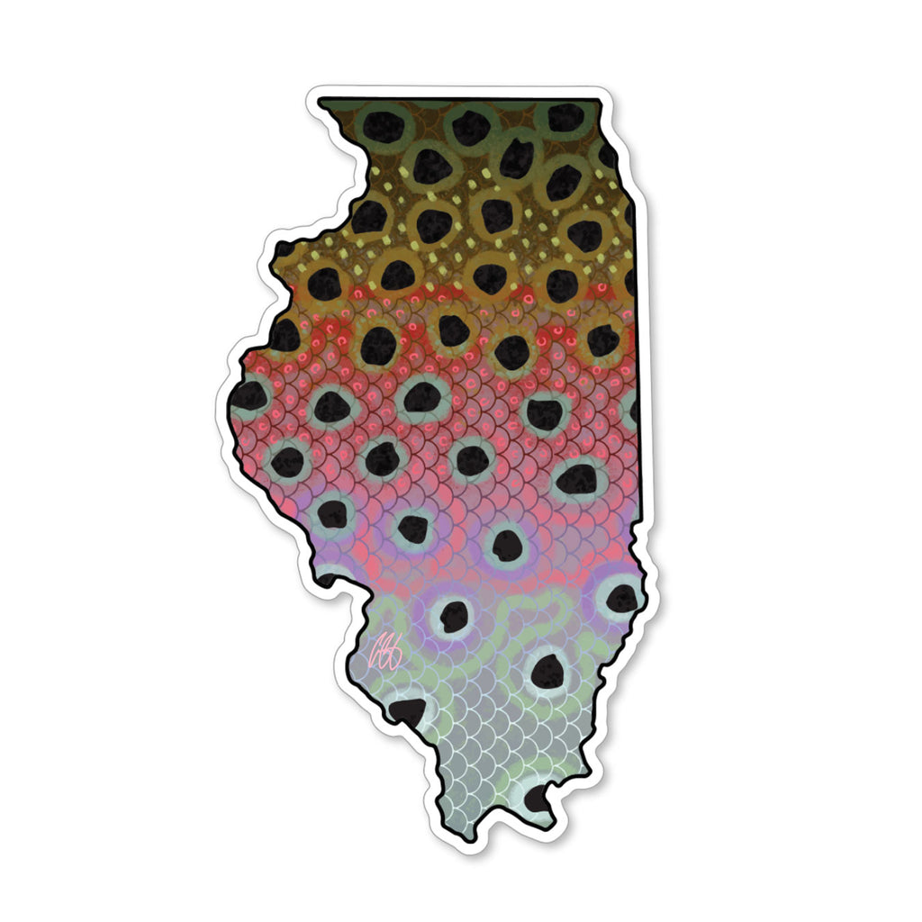 Illinois Rainbow Decal