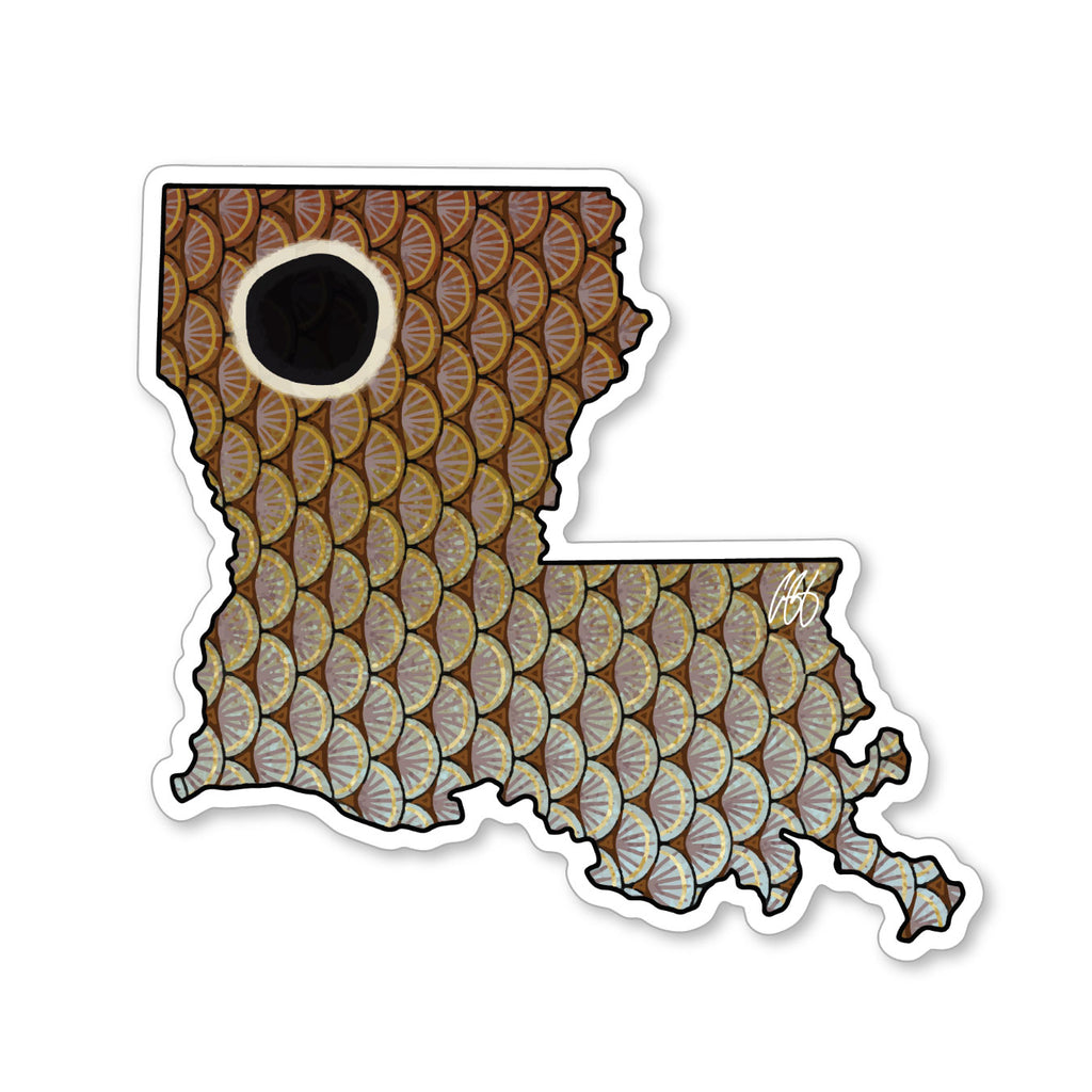 Louisiana Redfish Decal