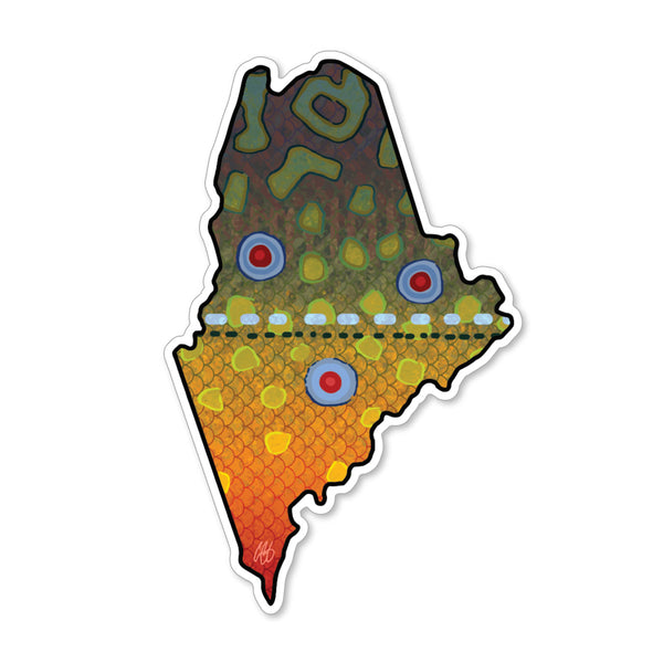Maine Brook Decal