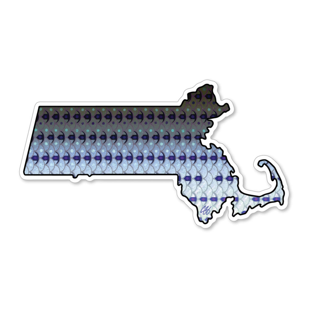 Massachusetts Striper Decal
