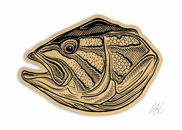 Brushed Gold Smallie Decal
