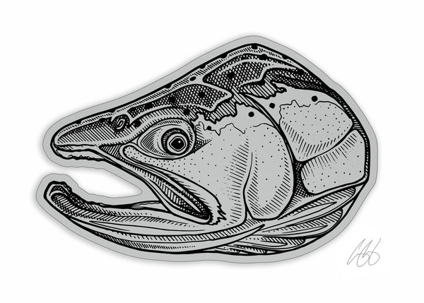 Brushed Alloy Steelhead Decal