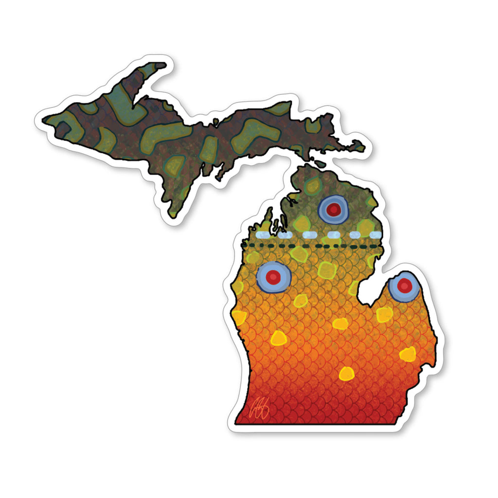 Michigan Brook Decal