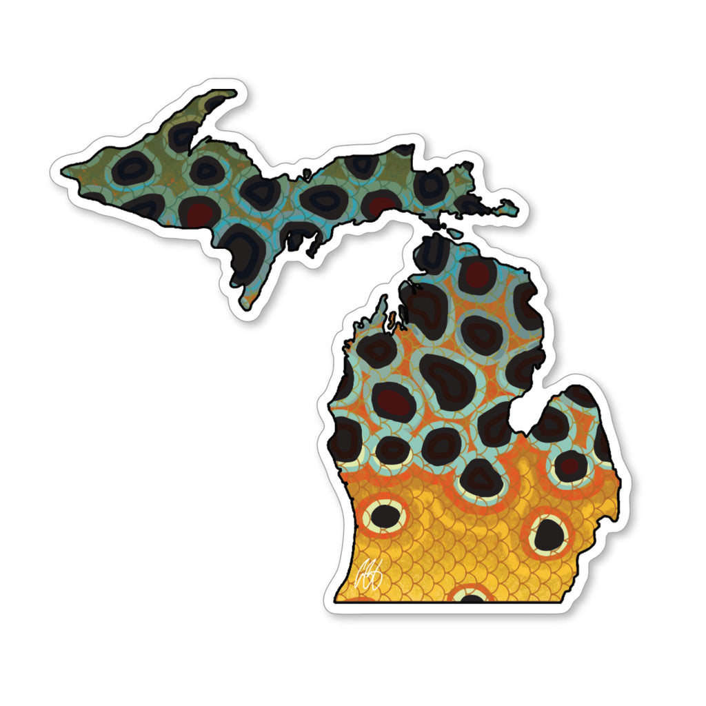 Michigan Brown Decal