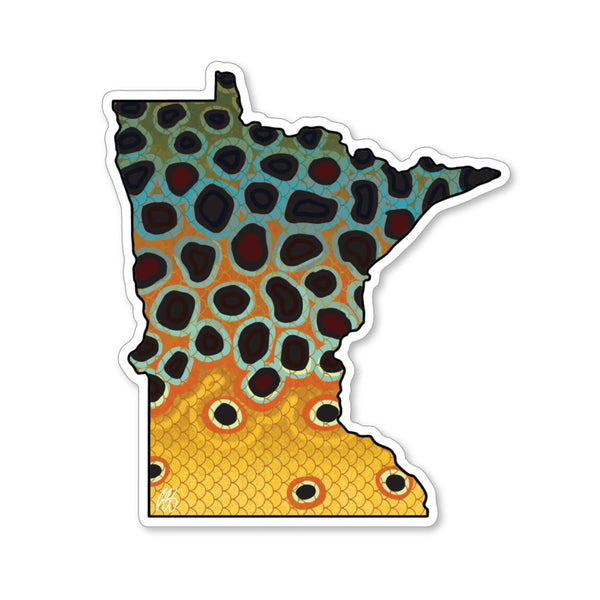 Minnesota Brown Trout Decal