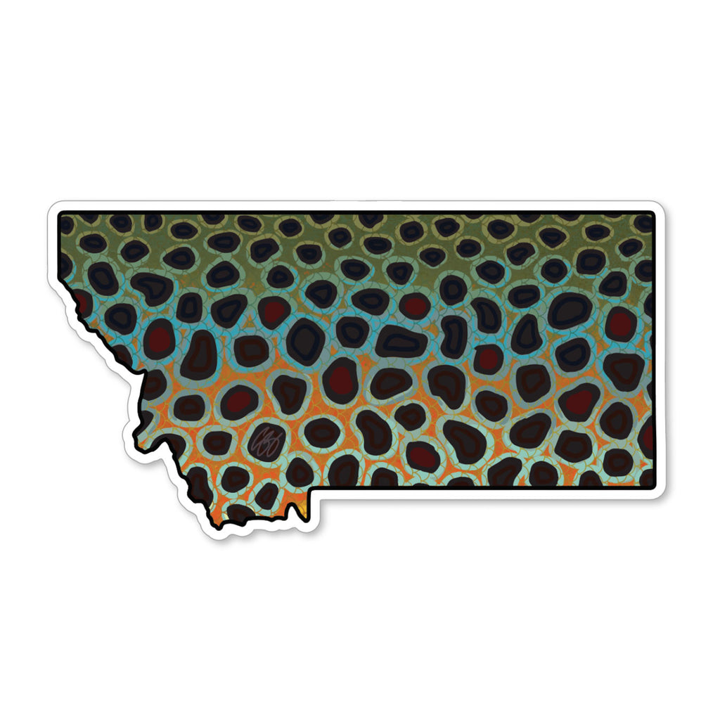 Montana Brown Decal