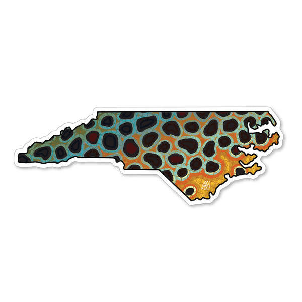 North Carolina Brown Decal