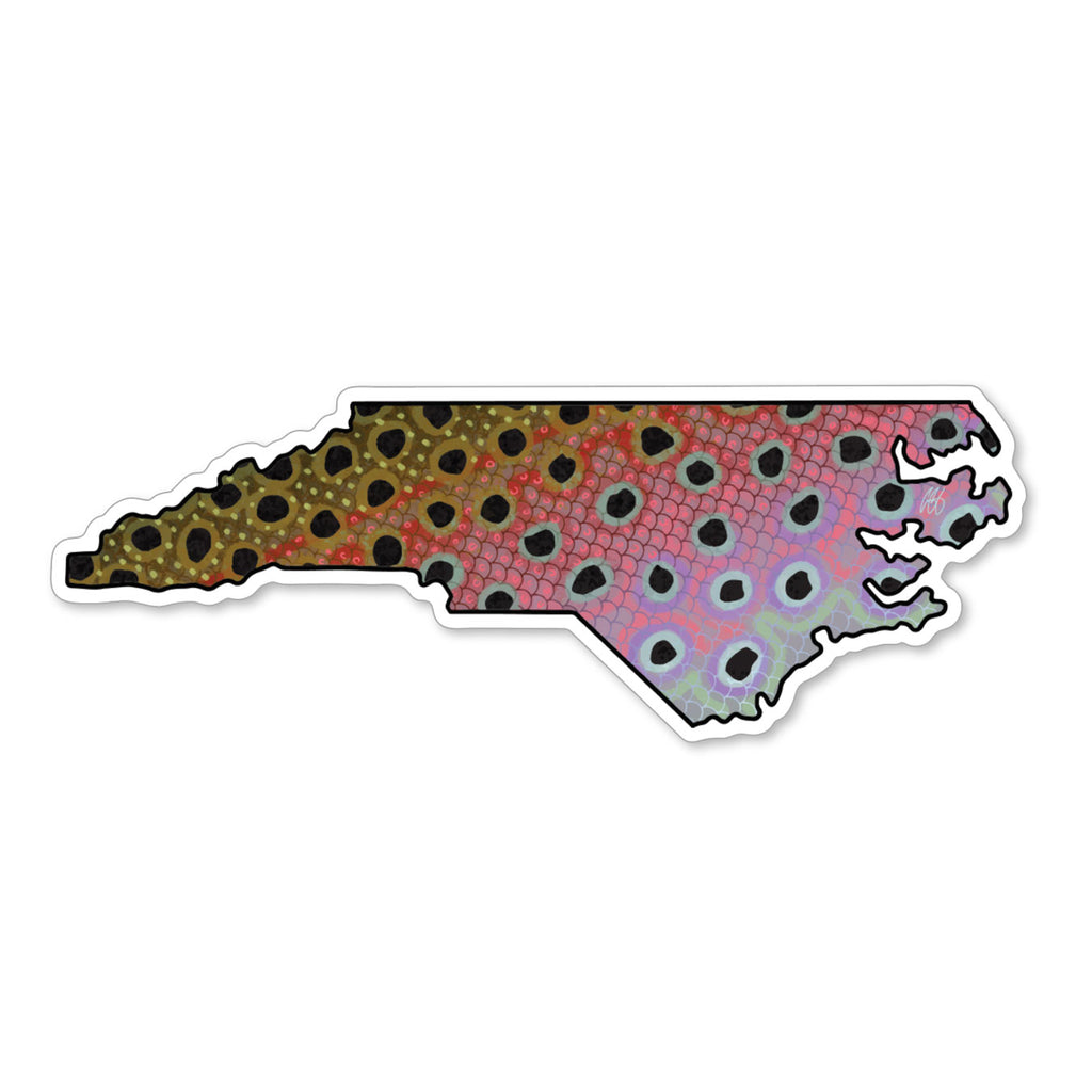 North Carolina Rainbow Decal