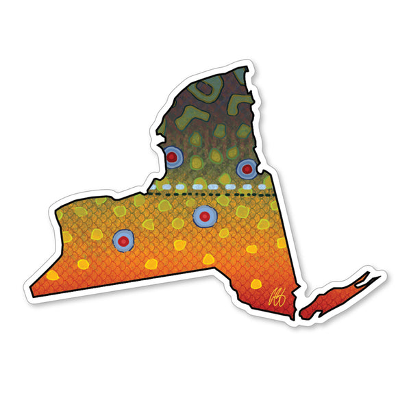 New York Brook Decal