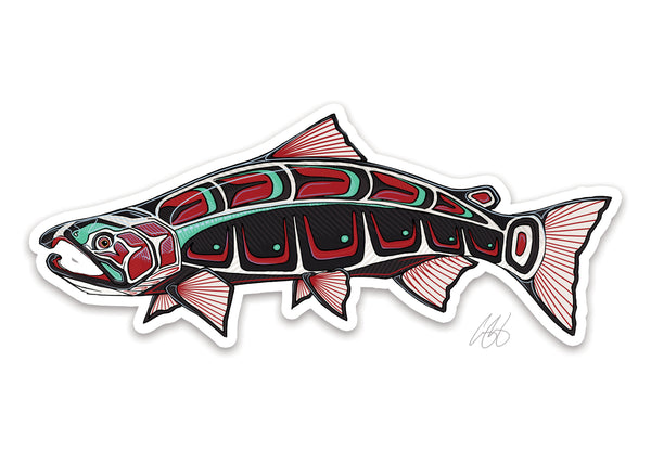 Native Coho Decal
