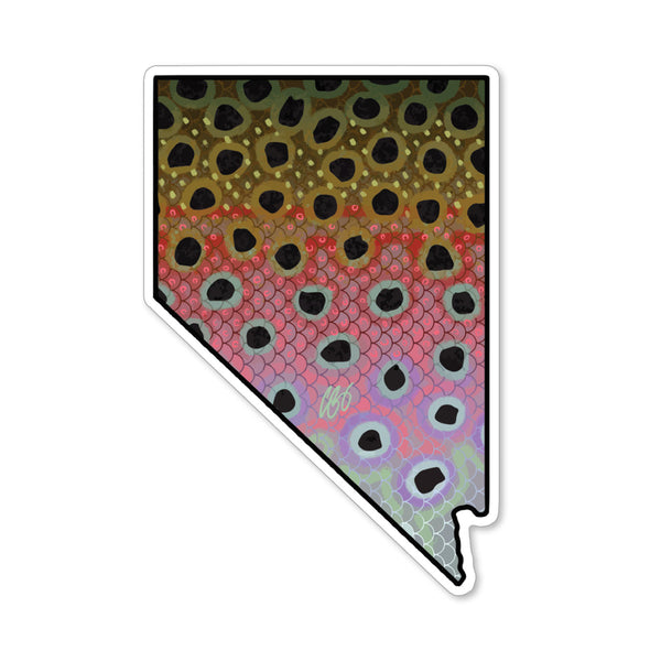 Nevada Rainbow Decal