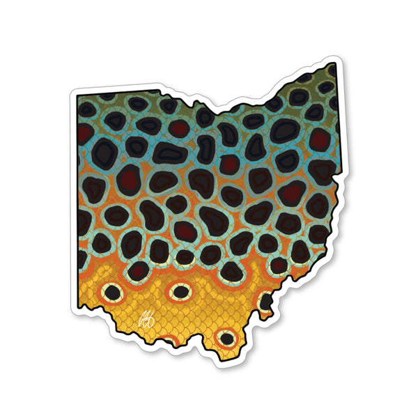 Ohio Brown Trout Decal