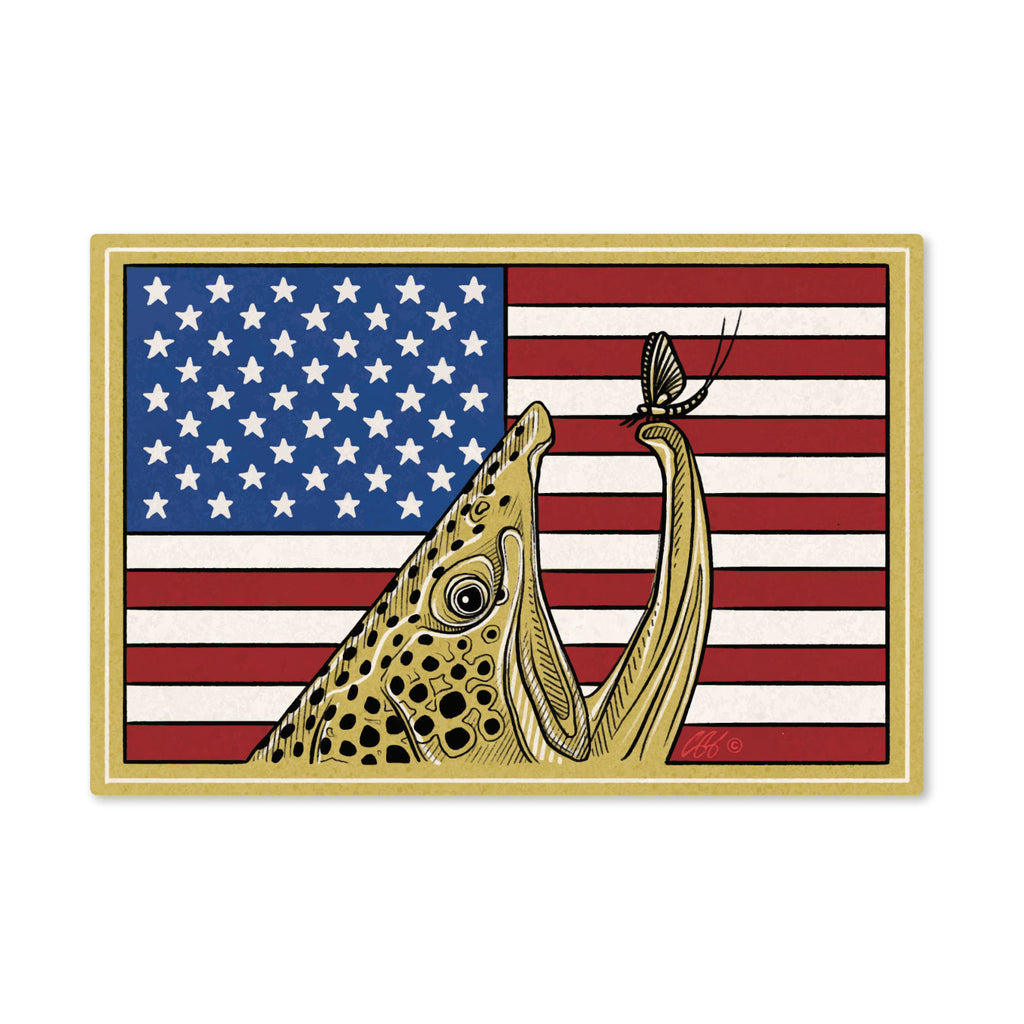 Red, White & Brown Decal