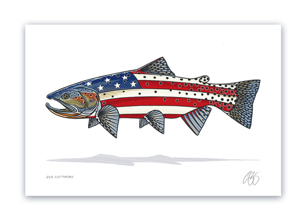 USA Cutthroat Print