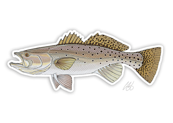Speckled Trout Decal