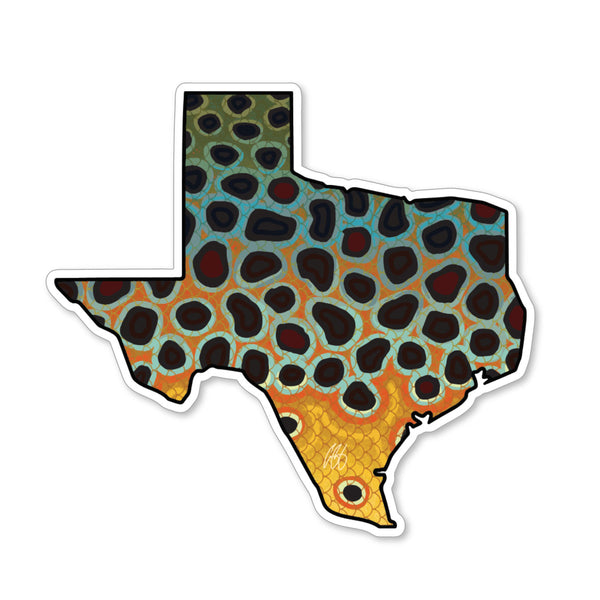 Texas Brown Decal