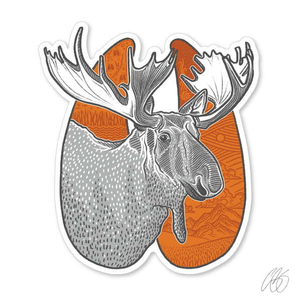 Moose Track Decal
