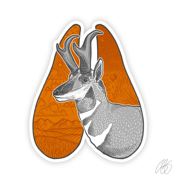 Pronghorn Track Decal