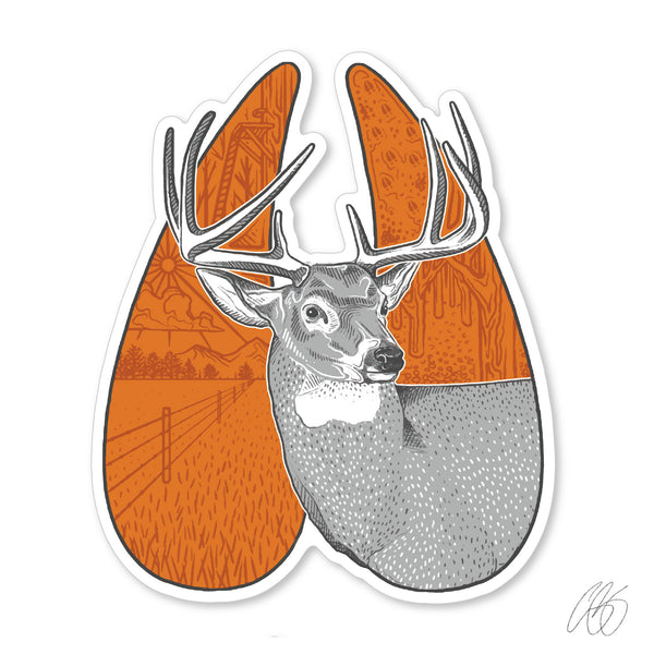 Whitetail Track Decal