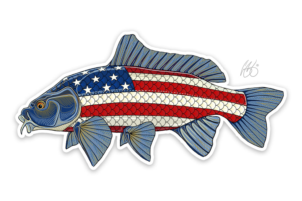 USA Carp Decal