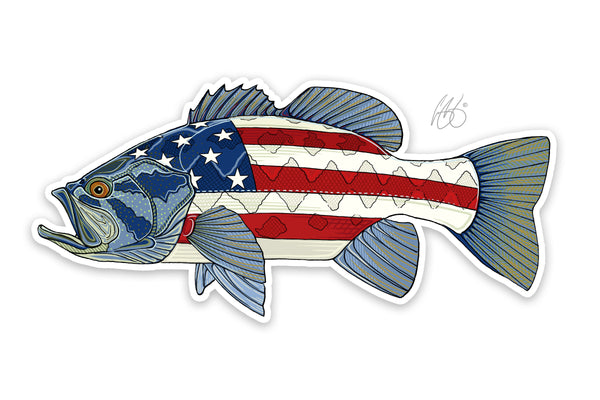USA Bass Decal