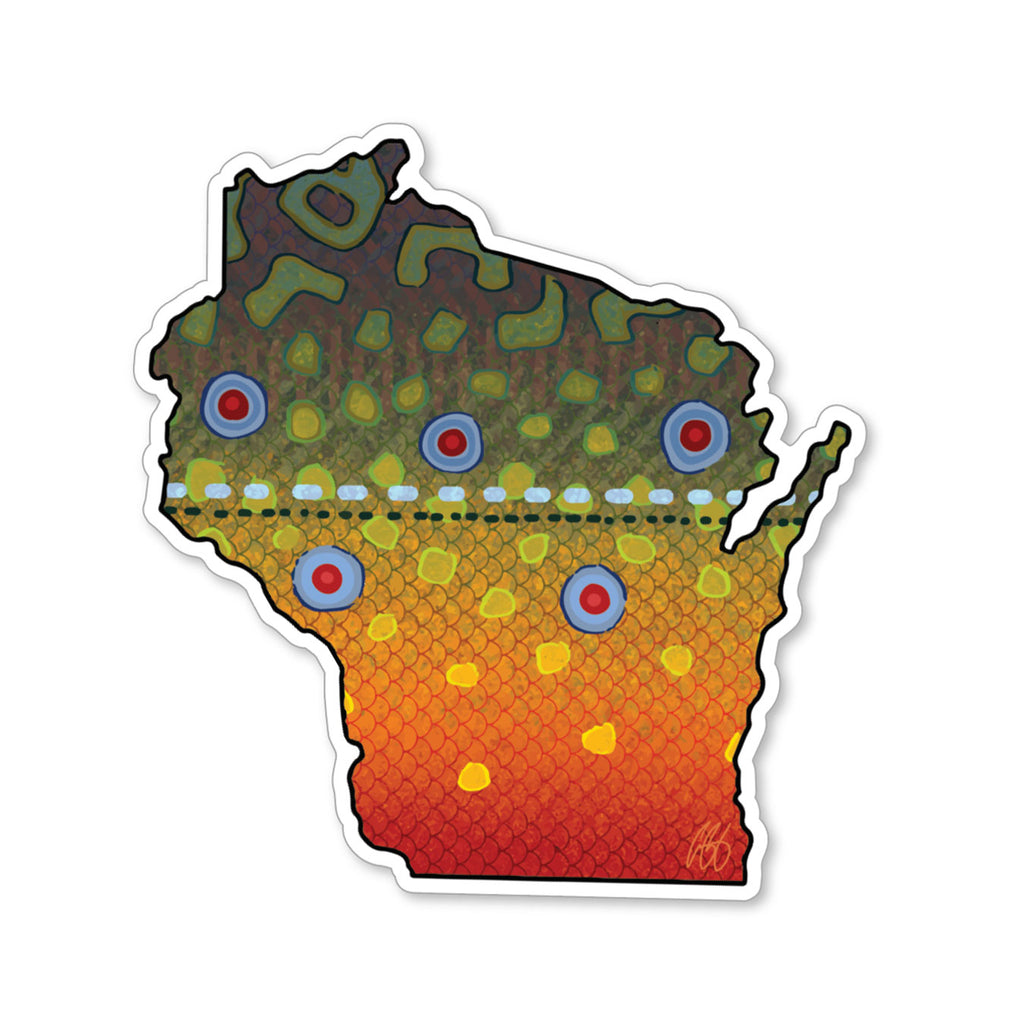 Wisconsin Brook Decal