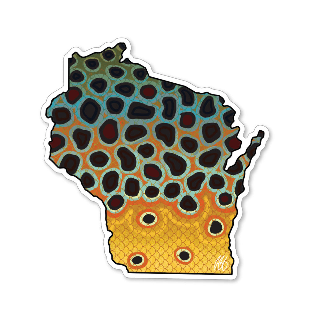 Wisconsin Brown Decal