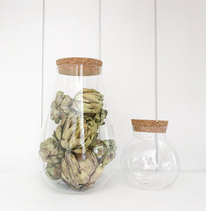 Cork + Glass Jar