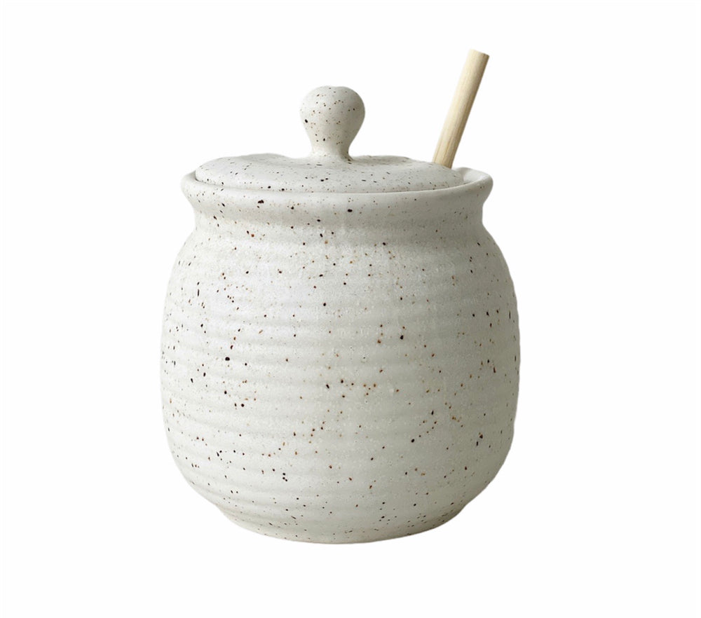 Load image into Gallery viewer, Stoneware Honey Pot