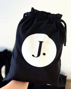 DRAWSTRING BAGS (BLACK OR BEIGE)